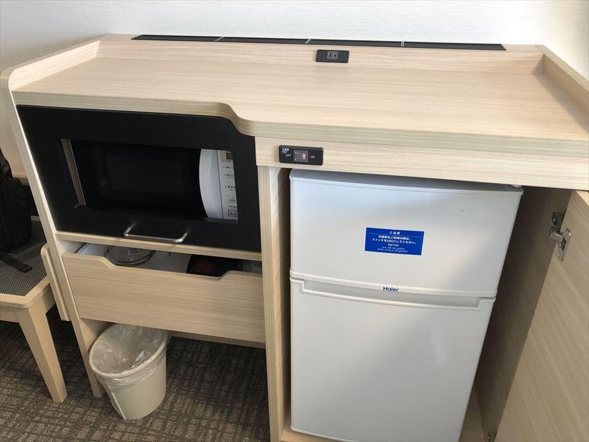 コンフォートスイーツ東京ベイ電子レンジ冷蔵庫