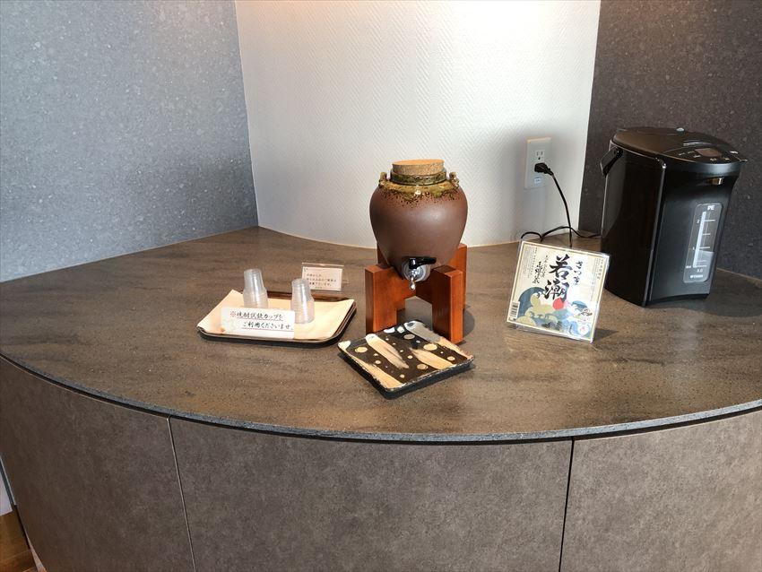 鹿児島空港ラウンジ焼酎